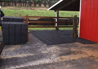 Eco GreenGrid Horse and Farm area use for mud control and ground stability